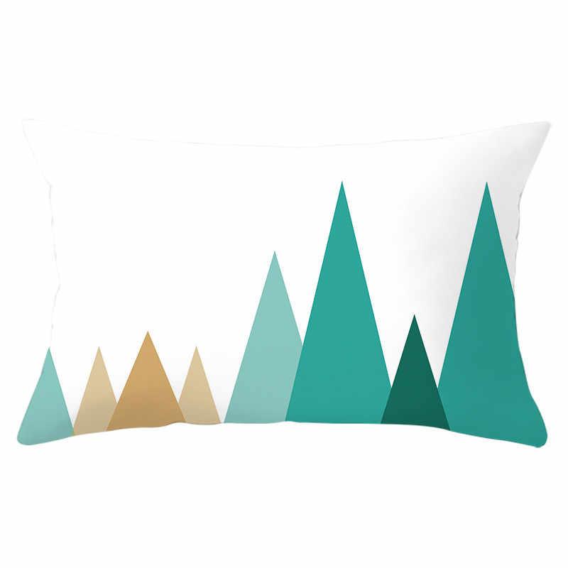 Fuwatacchi Geometris Pola Cushion Cover Rectangle Polyester Melemparkan Sarung Bantal Sofa Bantal Dekoratif Mencakup 30*50Cm