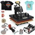 6в1 термопресс для переноса футболки 38x38 см Печатный принтер крышка рулон сублимационная машина
