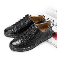 dae new contracted Casual fashion breathable Real crocodile skin for business casual men Leather shoe man fashion man shoes