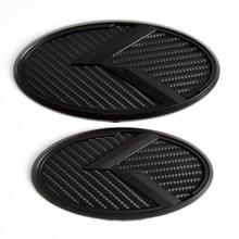 Emblème de coffre de voiture, 2 pièces, autocollant 3D, Logo K, Badge avant et arrière pour KIA K5 2011 – 2013, Optima Forte 2009 – 2014