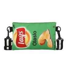 Women Potato chip shoulder bag Small Square Wild Shoulder bags