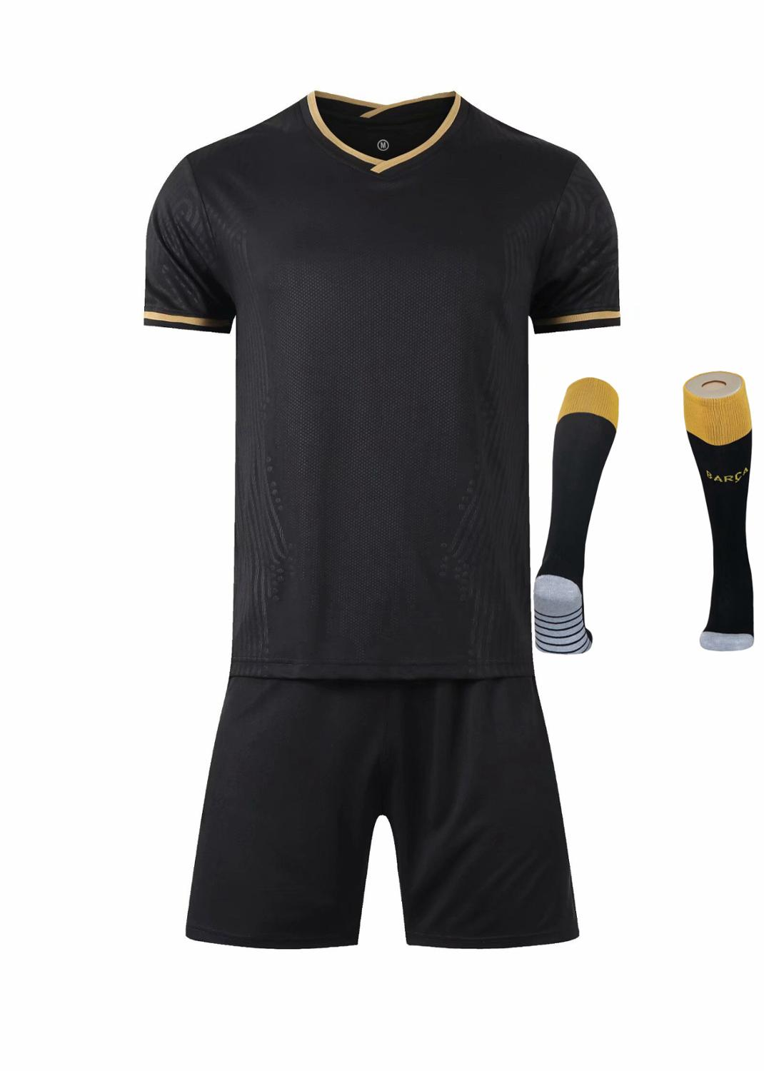 Children Sets football uniforms boys and girls sports kids youth training suits blank custom print soccer set with socks 16