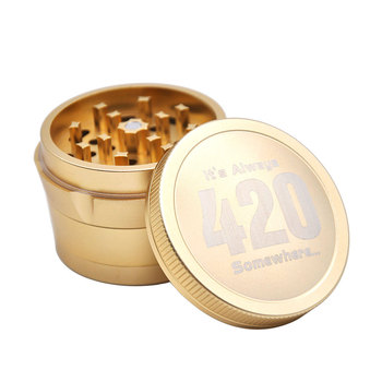 Aircraft Aluminum Herb Tobacco Grinder with Diamond Teeth 63 MM 4 Layers Herb Grinder Crusher Spice Grinder