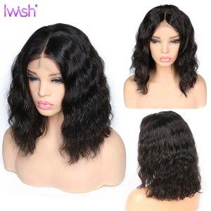 Image 5 - 4x4 Peluca de pelo brasileño Remy con cierre de encaje Peluca de cuerpo ondulado peluca pre arrancada con pelo de bebé pelucas de cabello humano sin pegamento 30 pulgadas peluca