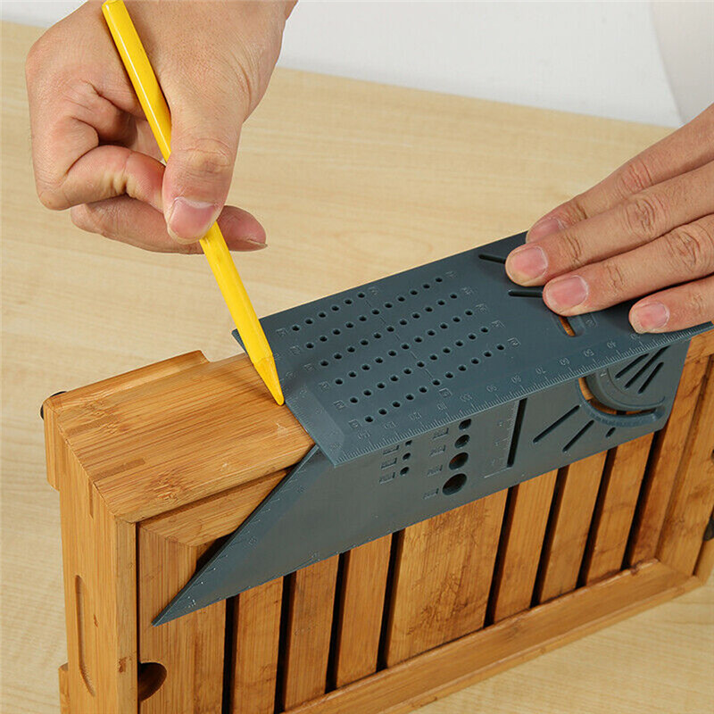 Useful Wood Working Scribe Mark Line Gauge T-Type Ruler Square Layout Miter 90 Degree Gauge Measuring Gauging Carpenter