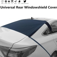 Universal Rear Windscreen Snow Cover Anti Dust Sun UV Windshield Rear Sun Shade Covers For Car Truck SUV Vehicle + Storage bag|Car Covers|   -