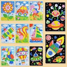 キッズdiy evaフォームステッカーmosaicosパズル描画のおもちゃ子供の漫画の動物交通早期教育芸術品や工芸品