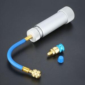 Image 4 - Inyector de Aceite SAE de 1/4 pulgadas, 2OZ, R134A R12 R22, tubo de llenado de refrigerante de aceite de coche, herramienta HVAC, tinte de inyección oz, herramientas automáticas