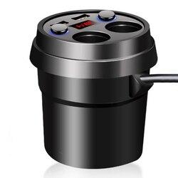 3.1A szybka ładowarka uchwyt na kubek samochodowy ładowarka podwójny USB Auto 12V rozdzielacz gniazda pojazdu rozdzielacz mocy akcesoria samochodowe w Zasilacz od Samochody i motocykle na