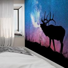 Natural Animal Wolf Deer Astronaut Tapestry Hippie Mandala Wall Hanging Bedroom Polyester Travel Camping Psychedelic Tablecloth natural animal deer flamingo tapestry hippie mandala wall hanging bedroom polyester travel camping psychedelic tablecloth