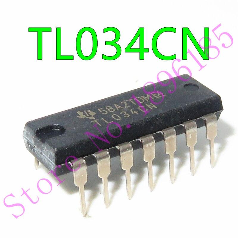 TL034CN IC OPAMP JFET 4 контура 14DIP