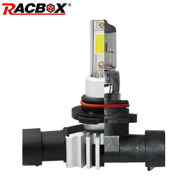 RACBOX Car Headlight Bulb H4 H1 H3 H7 H11 H9 H8 H27 880 881 9005 HB3 9006 HB4 LED Lamp Replace Halogen Bulb 3000K 6000K 10000K