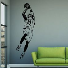 Basketball wall stickers nba famous star wall stickers home fashion accessories LQ36 cheap Plane Wall Sticker Modern For Tile For Wall Furniture Stickers Floor Stickers Window Stickers For Refrigerator Single-piece Package