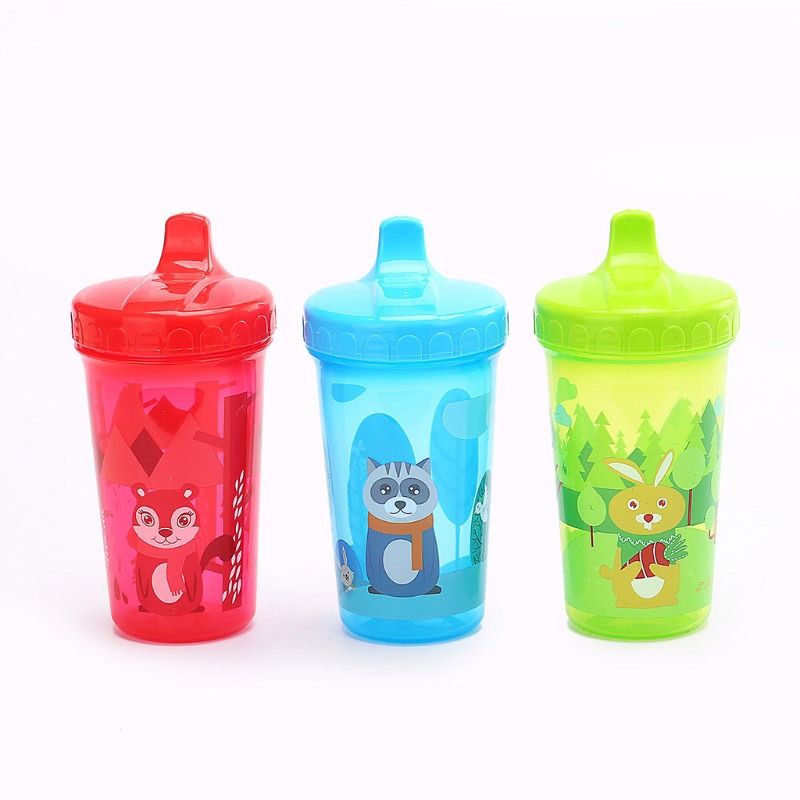 2020  Baby Cartoon  Cup New Fox Bunny Children Baby Infant Leak Proof Cup Training Drinking Cup 300ml