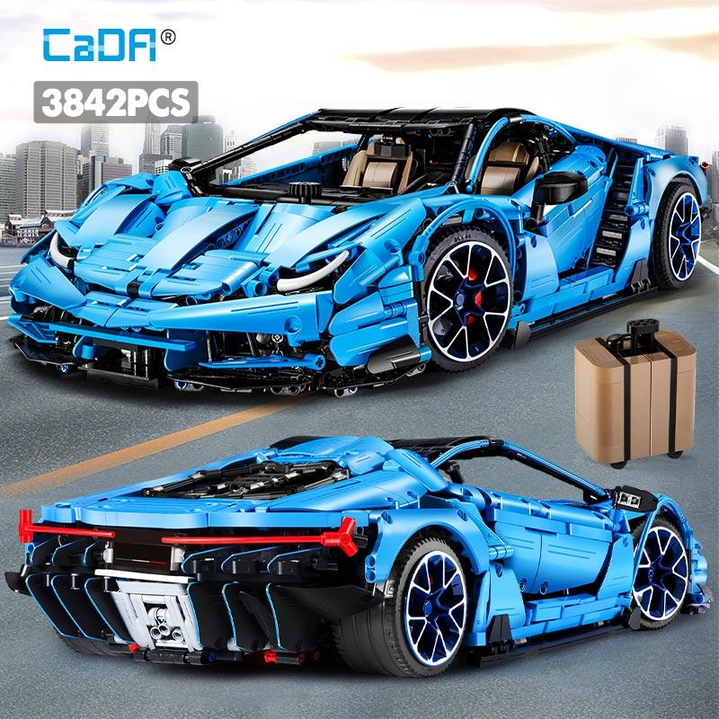 Cada 3842 adet Creator Mad inek ekstrem sporlar araç yapı taşları şehir teknik yarış araba tuğla toplamak hediye oyuncaklar çocuklar için
