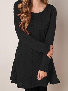 Sweater Dress Long-Sleeve Knitted Winter White Autumn Plus-Size Women Short Loose Female
