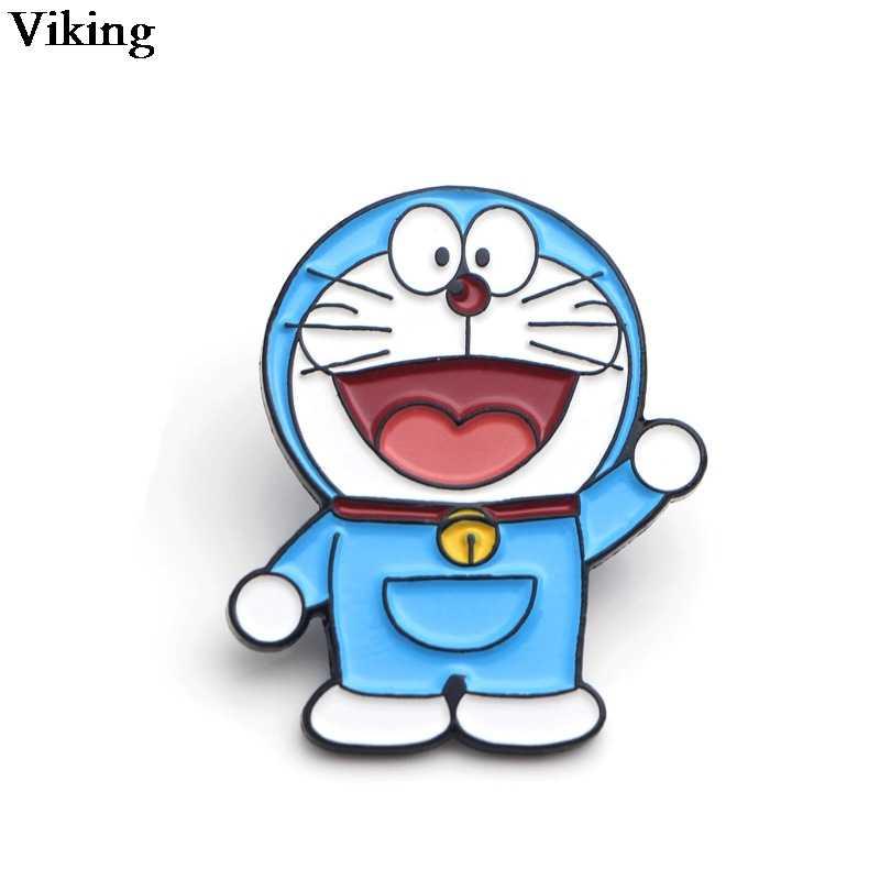 1Pcs Doraemon Distintivi E Simboli Anime Spille In Metallo Dello Smalto Spilla Carino Risvolto Spille Per I Bambini Le Donne Degli Uomini Spille Per Le Borse Cappello camicia G0371