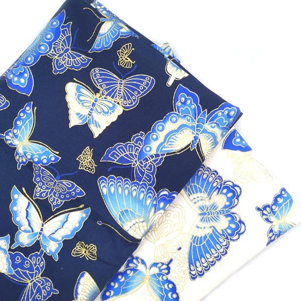 Черный красный хлопок вишневый цвет Бронзирующая ткань, бабочка кран Precut швейная ткань Лоскутная стеганая DIY японская ткань 2