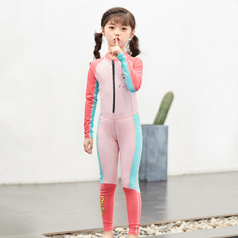 Hao Gay 2019 New Style Creative-Sun-resistant KID'S Swimwear Girls BOY'S One-piece Big Boy Swimming Suit Diving Suit