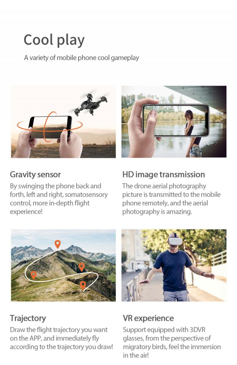 S60 RC Drone Helicopter WiFi FPV With Camera 4K HD Aerial Photography RC Quadcopter Folding Drone Remote Control Toys Dropship