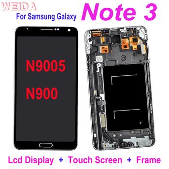 Original Super AMOLED for SAMSUNG Galaxy Note 3 N9005 N900 LCD Display Touch Screen Digitizer Assembly with Frame Replacement 2960 1440 6 3 super amoled display screen for samsung galaxy note 8 lcd screen digitizer touch screen assembly with free tools