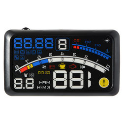 Car E4 HUD Head-Up Display Overspeed Warning Windshield Projector Voltage Alarm System Universal Auto For Obd2 And Euobd Ports