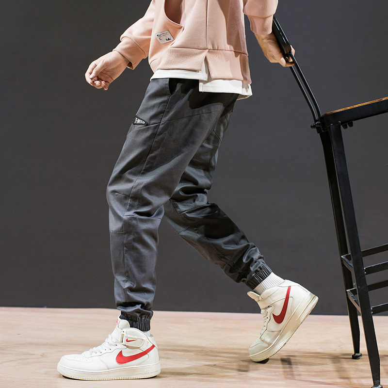 Bib Overall Men Long Pants Autumn Korean-style Loose-Fit Beam Leg Harem Pants Trend Capri Pants Casual Popular Brand Large Size