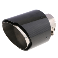 Stainless Steel Exhaust Tip Carbon Fiber Exhaust Tailpipe Tip 63mm Inlet 114mm 165mm Long