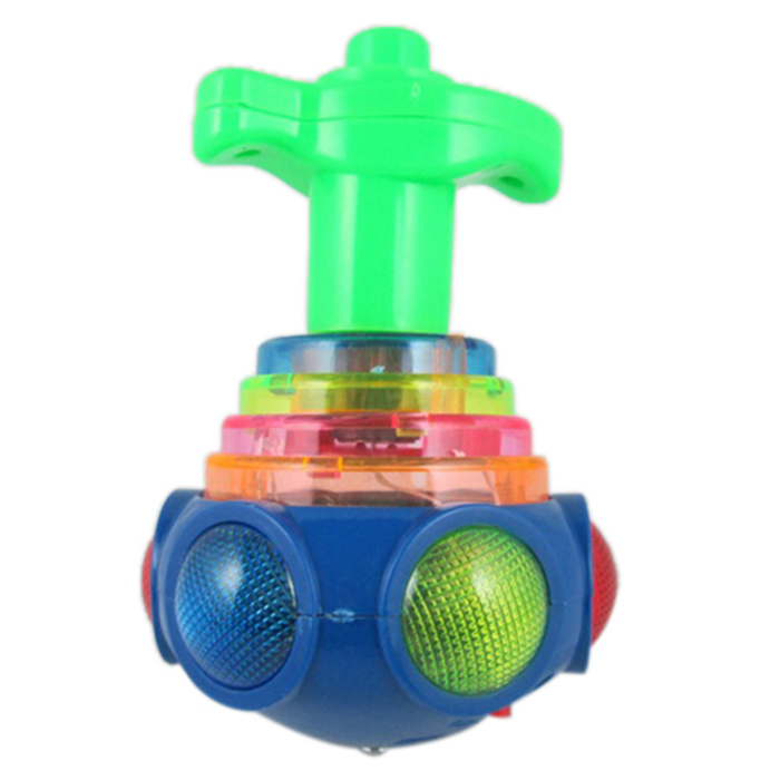 Hot Colorful Light & Music Gyro Peg-Top Spinning Tops Kids Children Toy(China)