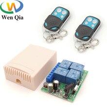 التيار المتناوب 85 فولت ~ 220 فولت 10Amp 2200 واط 4CH 433 ميجا هرتز rf مفتاح التحكم عن بعد لاسلكي التتابع استقبال تحكم ل المرآب \ باب \ LED \ لمبة