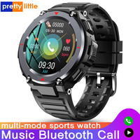 Reloj inteligente deportivo para hombre, pulsera con llamadas, Bluetooth, varios modos, música al aire libre, resistente al agua, Monitor de ritmo cardíaco, Android e IOS, novedad de S-25