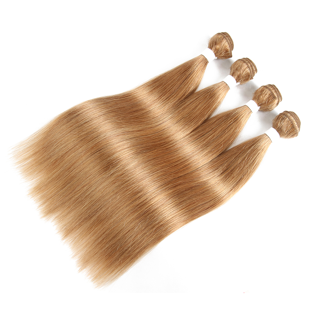 Hair-Weave-Bundles Brazilian-Hair IJOY 100%Human-Hair Blonde Colored Straight Honey -27