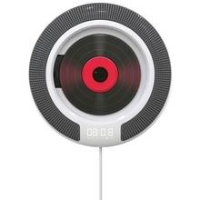 Lecteur CD Portable avec Bluetooth Radio FM montable au mur haut parleurs HiFi intégrés avec télécommande prise casque