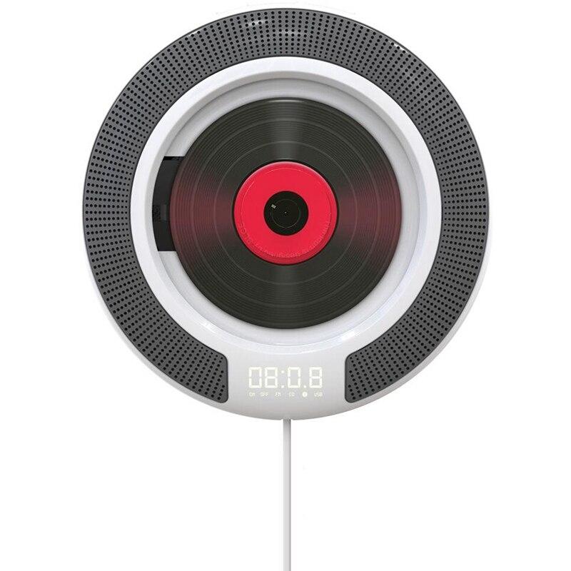 Lecteur CD Portable avec Bluetooth Radio FM montable au mur haut-parleurs HiFi intégrés avec télécommande prise casque