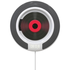 Image 1 - Taşınabilir CD çalar Bluetooth ile duvara monte FM radyo dahili HiFi hoparlörler uzaktan kumanda kulaklık jakı