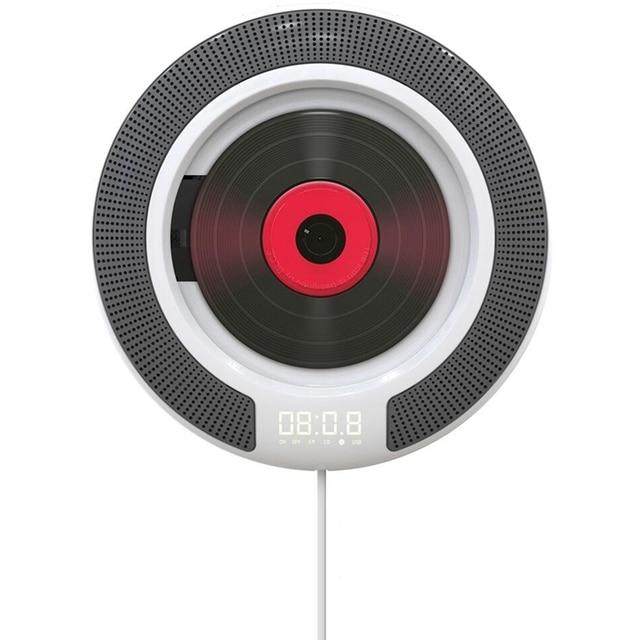 Taşınabilir CD çalar Bluetooth ile duvara monte FM radyo dahili HiFi hoparlörler uzaktan kumanda kulaklık jakı