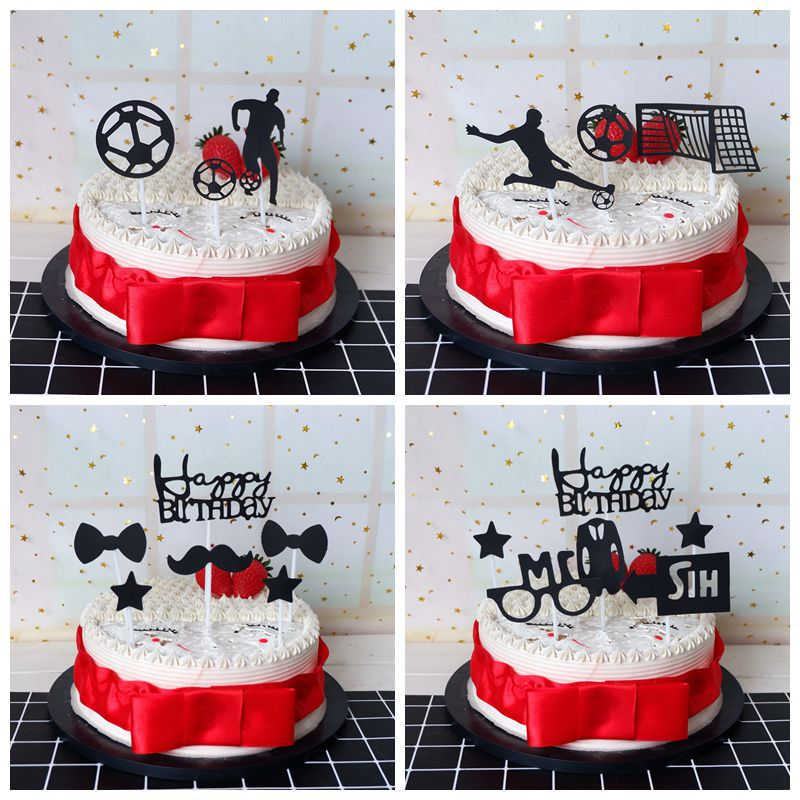 Astounding Ins New Football Cake Topper Creative Soccer Kids Happy Birthday Funny Birthday Cards Online Bapapcheapnameinfo