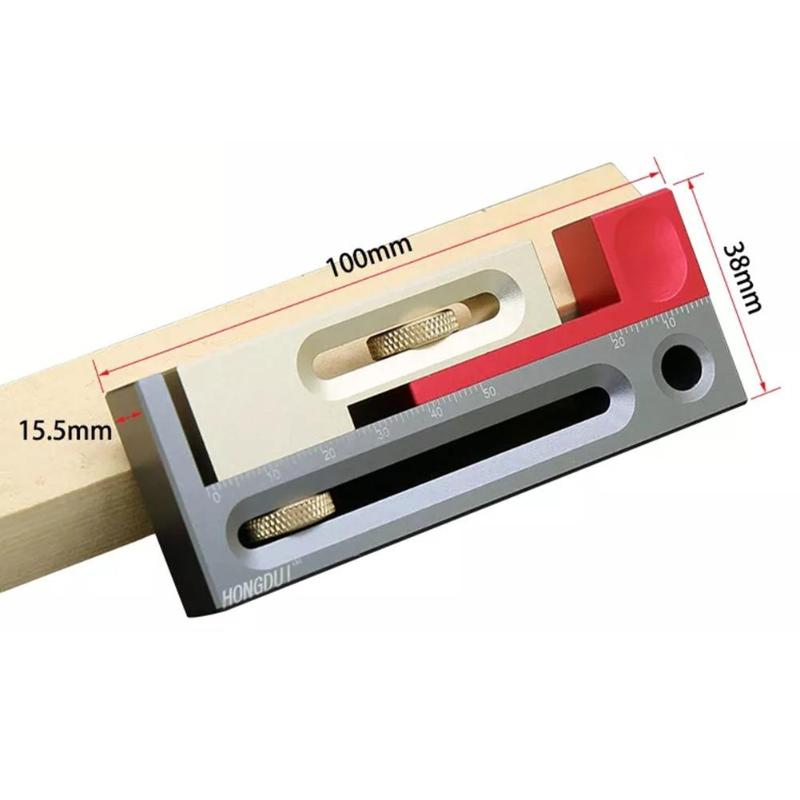 Saw Gap Slot Regulator Aluminum Alloy Woodworking Mortise Wear-Resistant Practical High Precision Practical Tenon Movable Tools