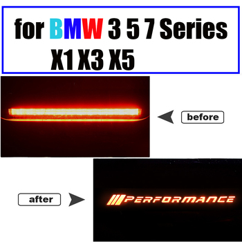Car Brake Light Stickers For BMW 3 5 7 Series X1 X3 X5 E70 F25 F48 E84 F15 F10 F18 G20 G28 F30 E46 E90 G30 G11 F01 M Performance image