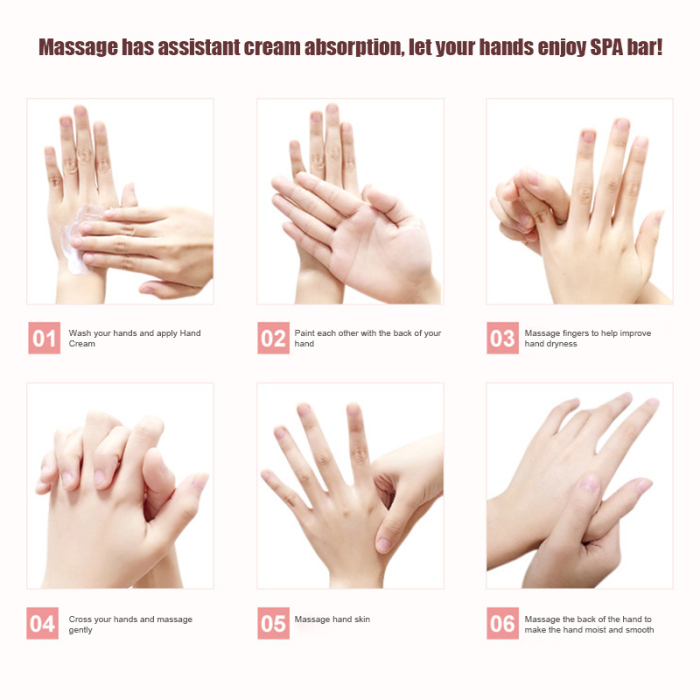5Pcs/Set Images Hand Cream Plant Extract Fragrance Moisturizing Nourishing Hand Care ZGOOD