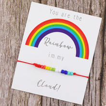 Женский браслет из разноцветного стекла 3 шт/компл с радужными