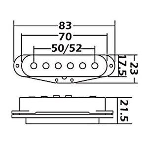 Image 5 - Wilkinson Pickups de guitare électrique Vintage, avec bobine simple, pour ST White MWVSN/M/B