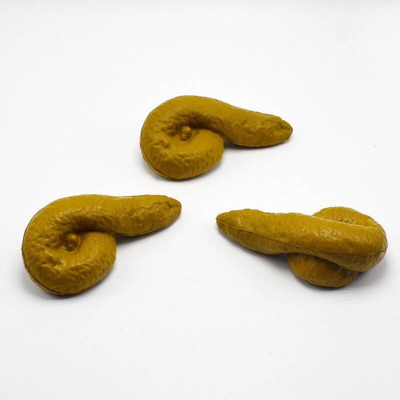 Купить с кэшбэком 11 x 6 x 3.5cm Gag-Funny Joke Tricky Toys Mischief Turd Gag Gift Realistic Shits poop Fake Turd Classic Shit Funny Toys