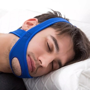 Image 1 - 新ネオプレンアンチいびきストップいびきチンストラップベルト抗無呼吸顎ソリューション睡眠サポート時無呼吸ベルト睡眠ケアツール