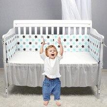Скандинавские звезды дизайн детская кровать утолщенные бамперы цельная кроватка вокруг подушки защита для кроватки подушки 7 цветов Декор для новорожденных