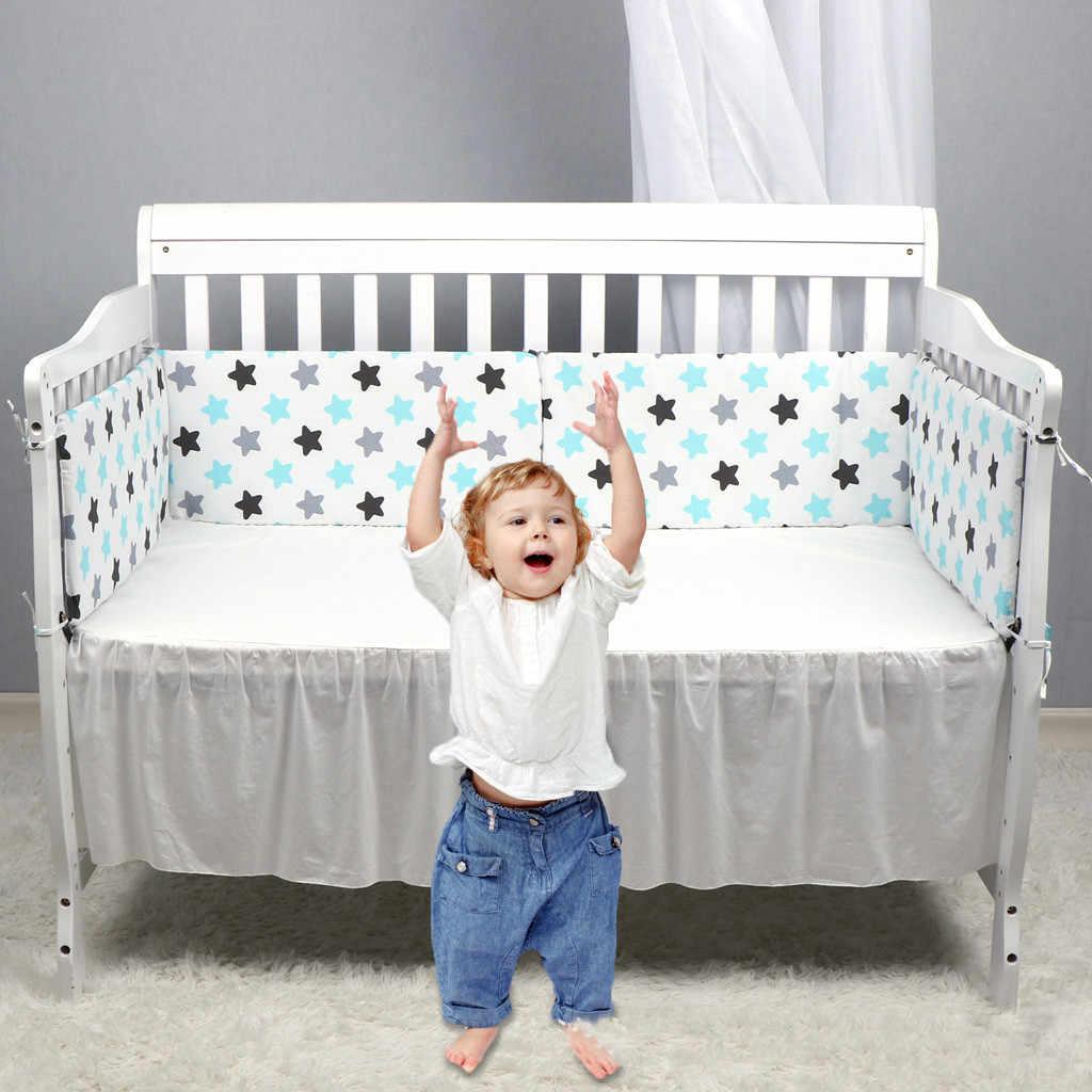 Nordic wzór gwiazda łóżeczko dla dziecka zagęścić zderzaki jednoczęściowy łóżeczko wokół poduszki łóżeczko Protector poduszki 7 kolory noworodków wystrój pokoju