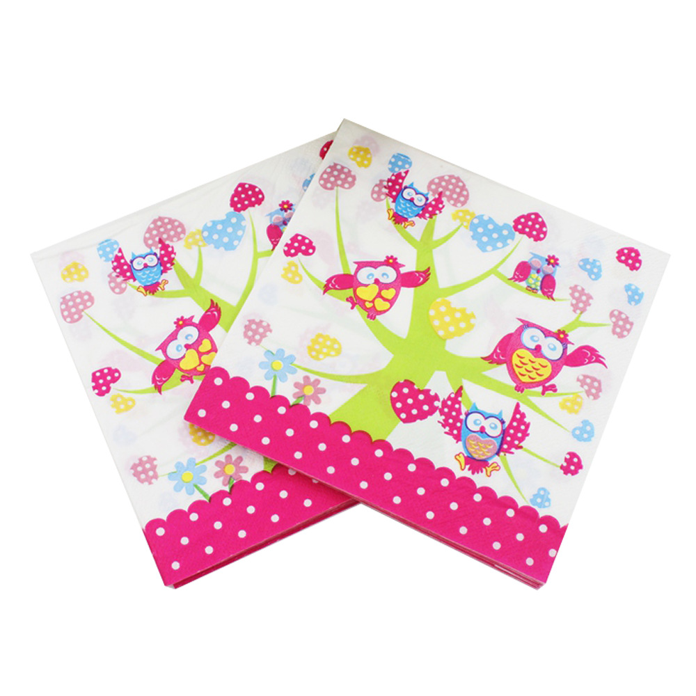 [Currently Available] Color Printed Napkin Cartoon Creative Tissue Napkin