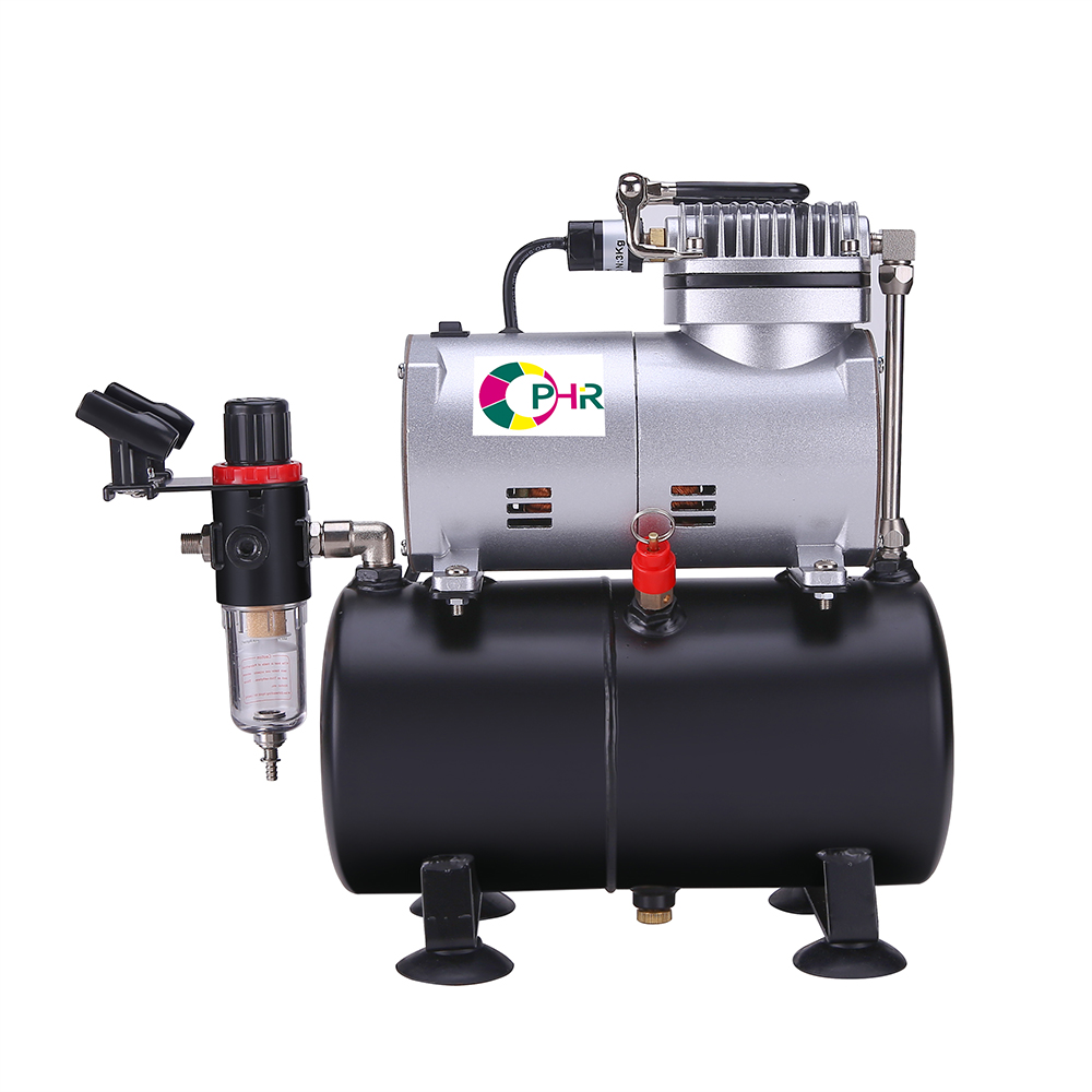 OPHIR PRO Air Compressor With Tank For Hobby Airbrush Car & Wall Painting Cake Decoration 220V EU Plug Compressor _AC090(220V)