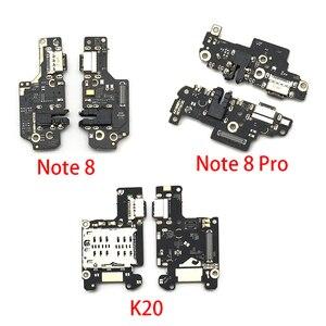 5 sztuk/partia USB ładowarka Port ładowania złącze Flex Cable dla Xiaomi Mi 9T Redmi K20 uwaga 8 Pro