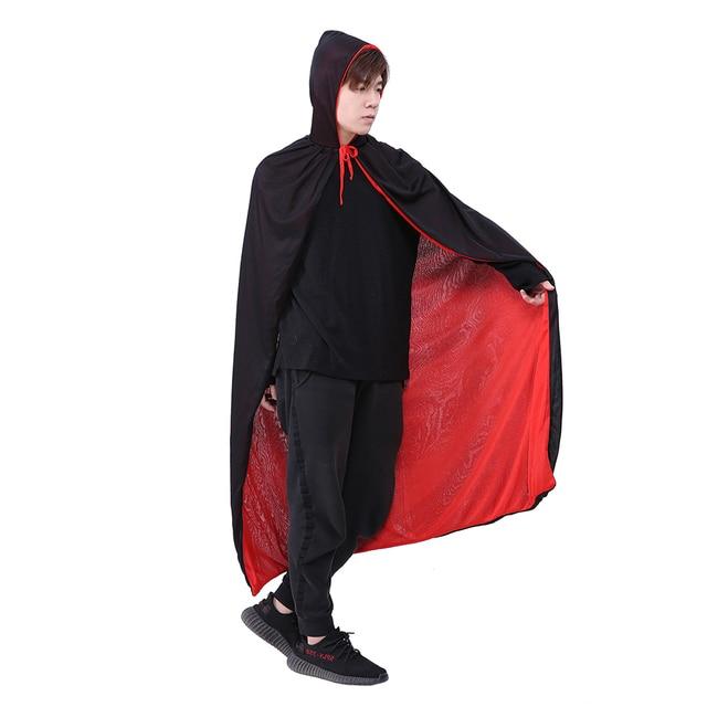 Devil Vampire Cloak Stage Performance Cloak Party Costume Red Black Reversable
